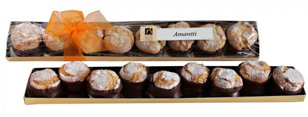 Amaretti mit Buttercreme und dunkler Schokolade